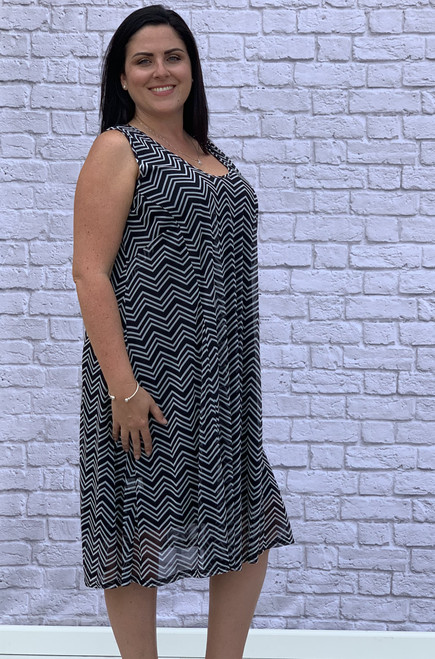 Simply The Best Dress- Chevron Print