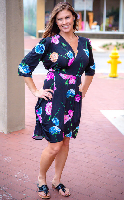 That's a Wrap Dress - Floral