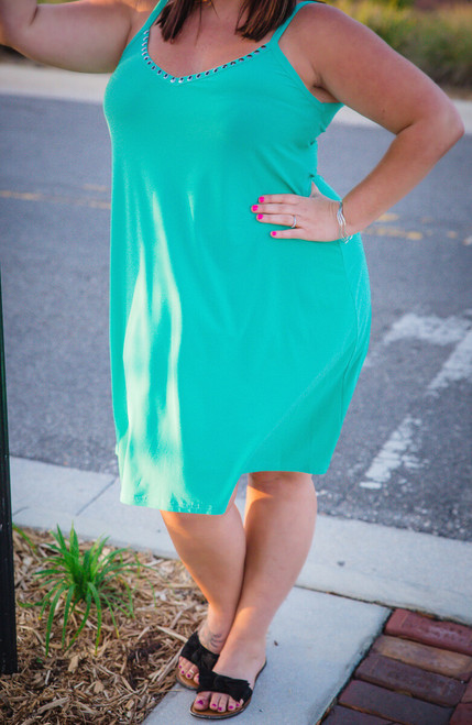 Lucky In Love Dress-  Mint