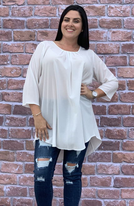 Love At First Sight Top- Creme