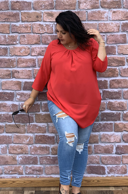 Love At First Sight Top- Red