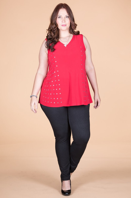 Dotted Lines Tank - Red
