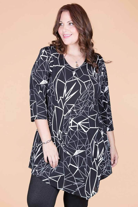 Say it Out Loud Tunic - Lightning Print