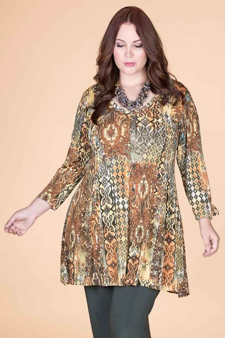 Off the Cuff Tunic - Garden Gate Print