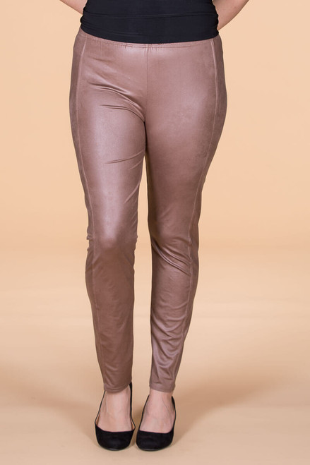 It's Never Boring Around Here Leggings - Taupe