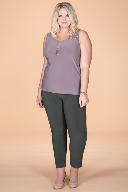 All Buttoned Up Legging - Olive