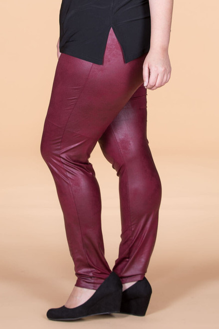 Instant Favorite Legging - Wine Faux Leather