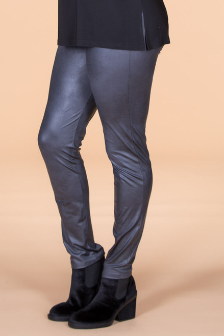 Instant Favorite Legging - Grey Faux Leather
