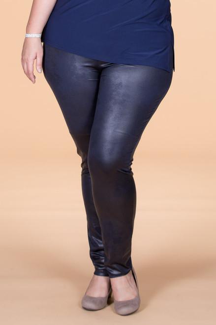 Instant Favorite Legging - Blue Faux Leather