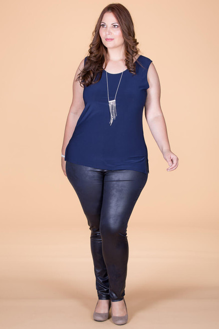 Instant Favorite Legging - Blue Faux Leather