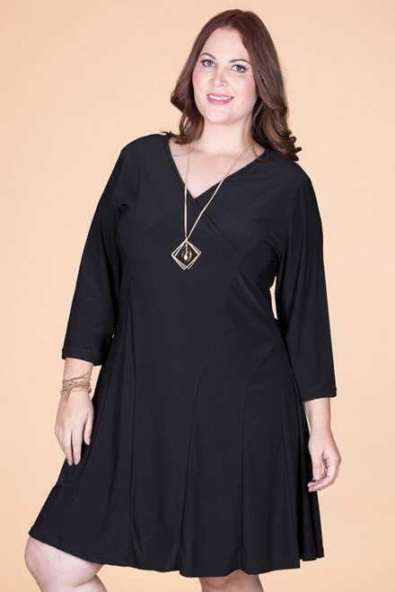 Against The Rules Faux Wrap Dress