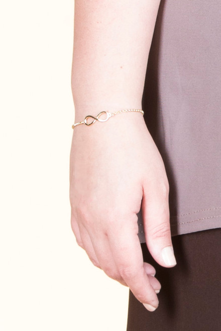 Infinity Chain Bracelet - Yellow Gold