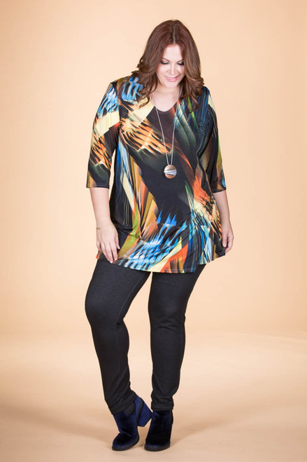 Beautifully Simple Tunic - Disco Lights Print