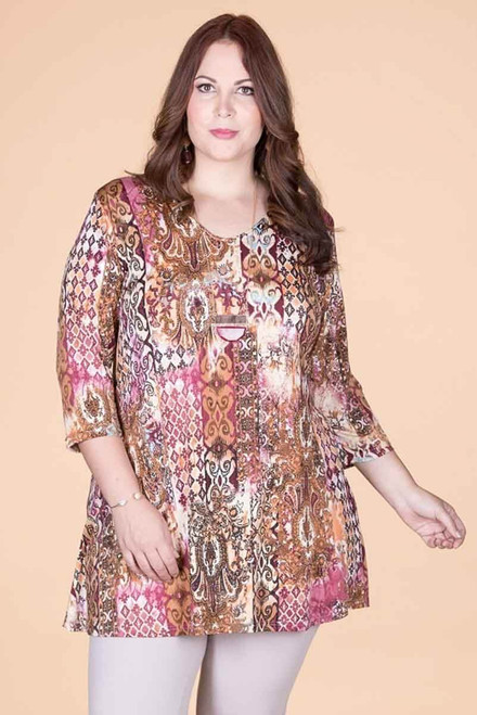 Beautifully Simple Tunic - Sunset Gate Print