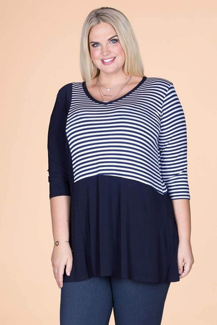 Detail Oriented Tunic - Nautical Stripes