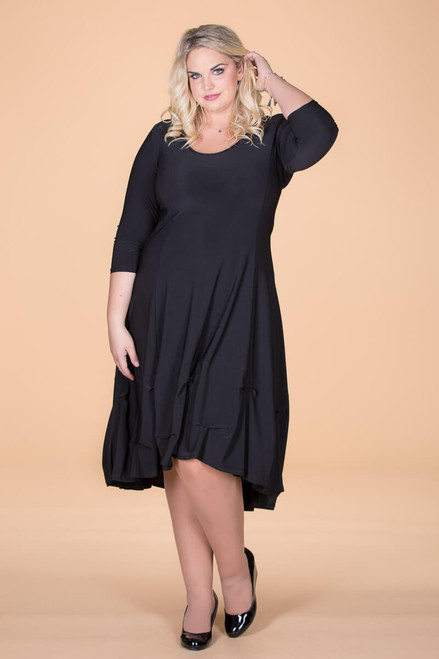 Game-Changer Ruffle Dress - Black
