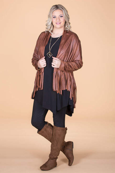 Ready to Take on Anything Fringed Jacket - N. Orange