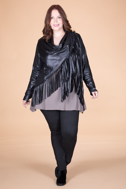 Ready to Take on Anything Fringed Jacket - Black