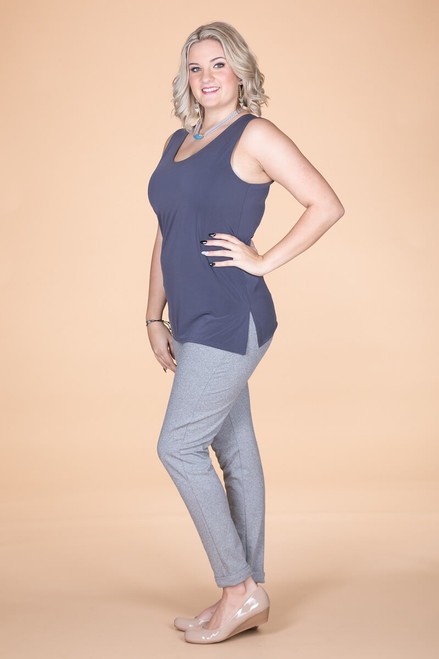 Every Question Answered Sleeveless Top - Grey