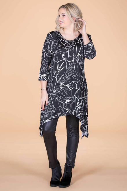 Your Best Foot Forward Tunic - Lightning Print