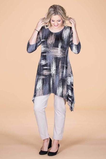 Your Best Foot Forward Tunic - Landslide Print