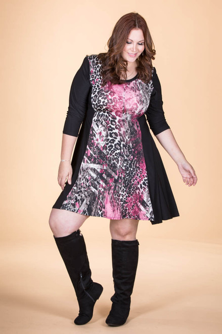 Keynote Speaker Dress - Pink Animal Print