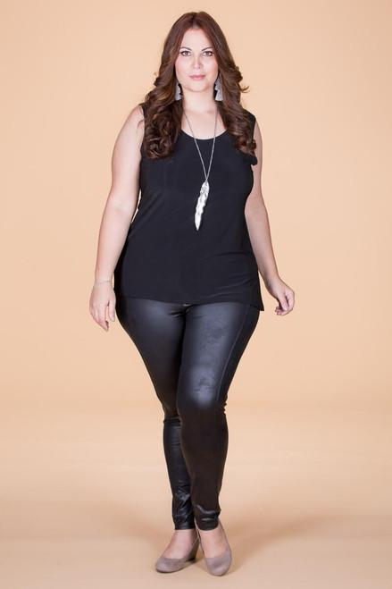 Instant Favorite Legging - Black Faux Leather
