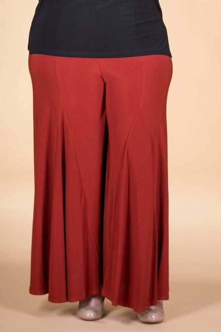 Swing Time Palazzo Pants - Rust