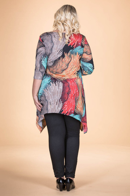 Your Best Foot Forward Tunic - Waves Print
