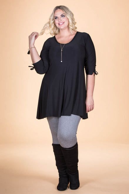 Off the Cuff Tunic - Simple Black