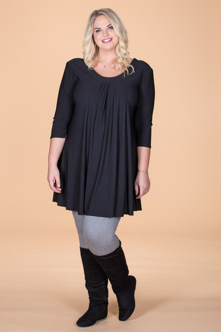 Tie-Back Tunic - Black