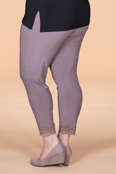 Winning at Life Leggings - Taupe