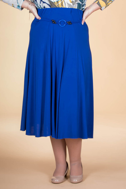 No Time Like the Present Skirt - Cobalt