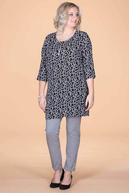 Never Too Busy for Style Tunic - Connections Print