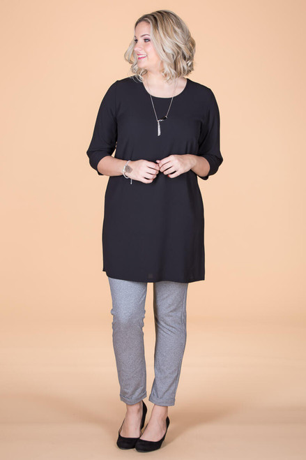 Never Too Busy for Style Tunic - Black