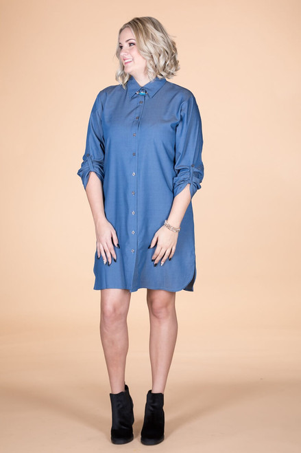All Buttoned Up Shirt Dress