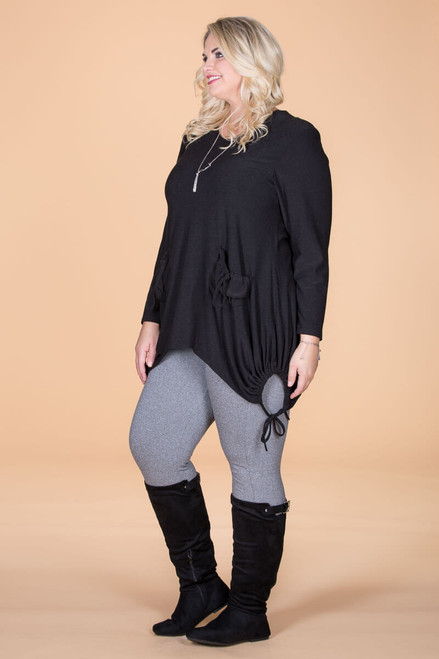 Time to Get Cozy Tunic - Black