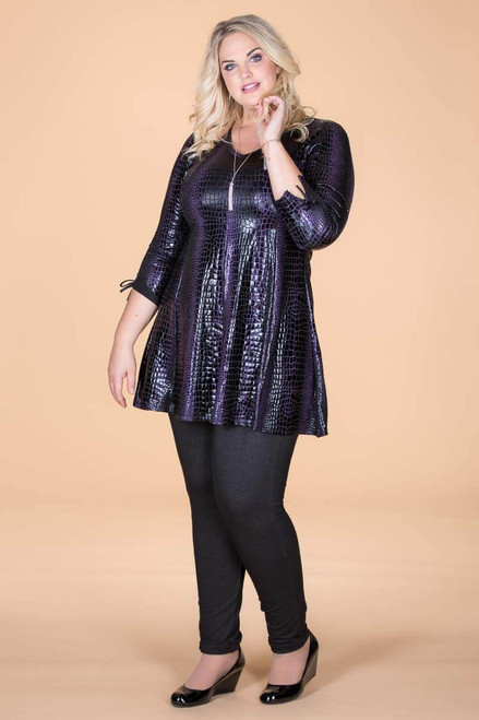 Off the Cuff Tunic - Purple Animal Skin