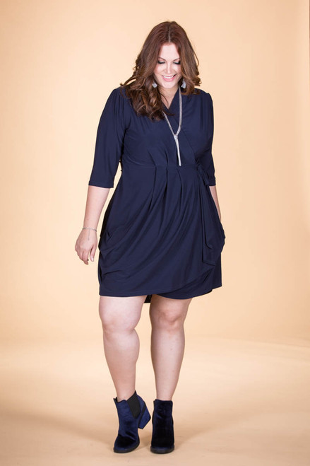 That's a Wrap Dress - Blue