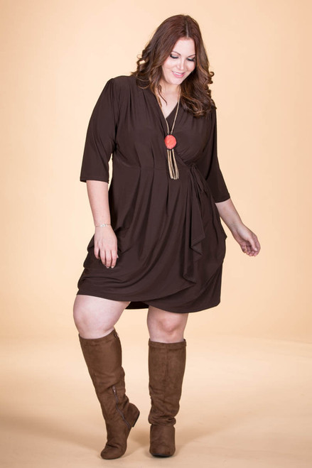 That's a Wrap Dress - Brown
