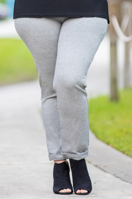 Get a Leg Up Jeggings - Grey