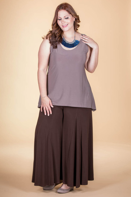 Swing Time Palazzo Pants - Brown