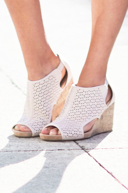 Perfect Statement Wedges -Soft Blush