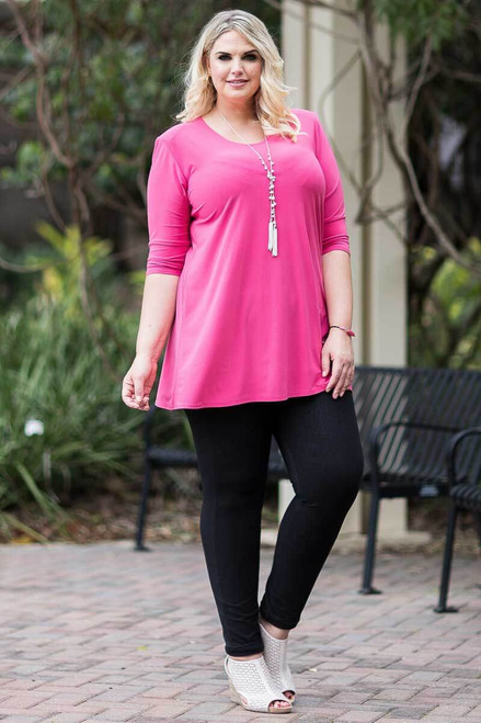 Beautifully Simple Tunic - Light Fuchsia