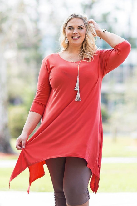 Your Best Foot Forward Tunic - Coral