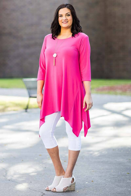 Your Best Foot Forward Tunic - Light Fuchsia
