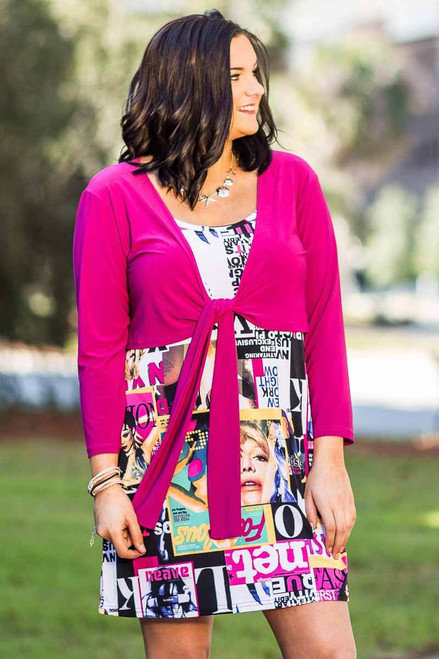 All You Need Bolero Jacket - Fucshia