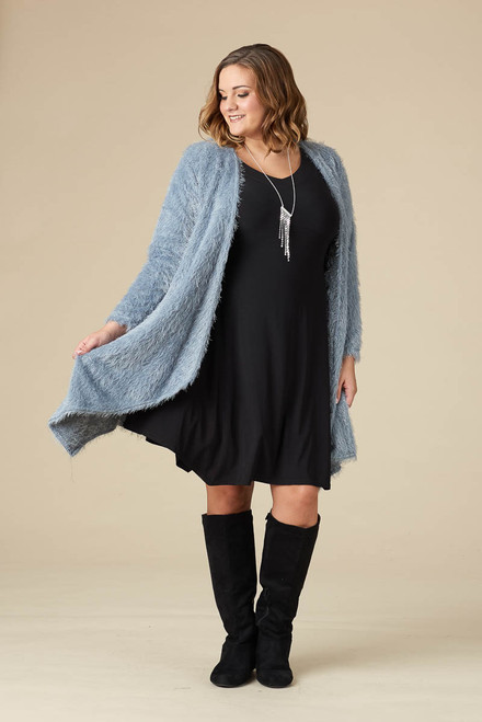 Saturday Morning Open Front Cardigan - Aqua