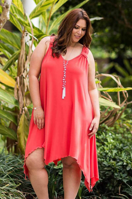 As Good as Gold Sleeveless Dress - Coral