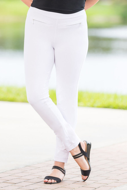 Get a Leg Up Jeggings - White
